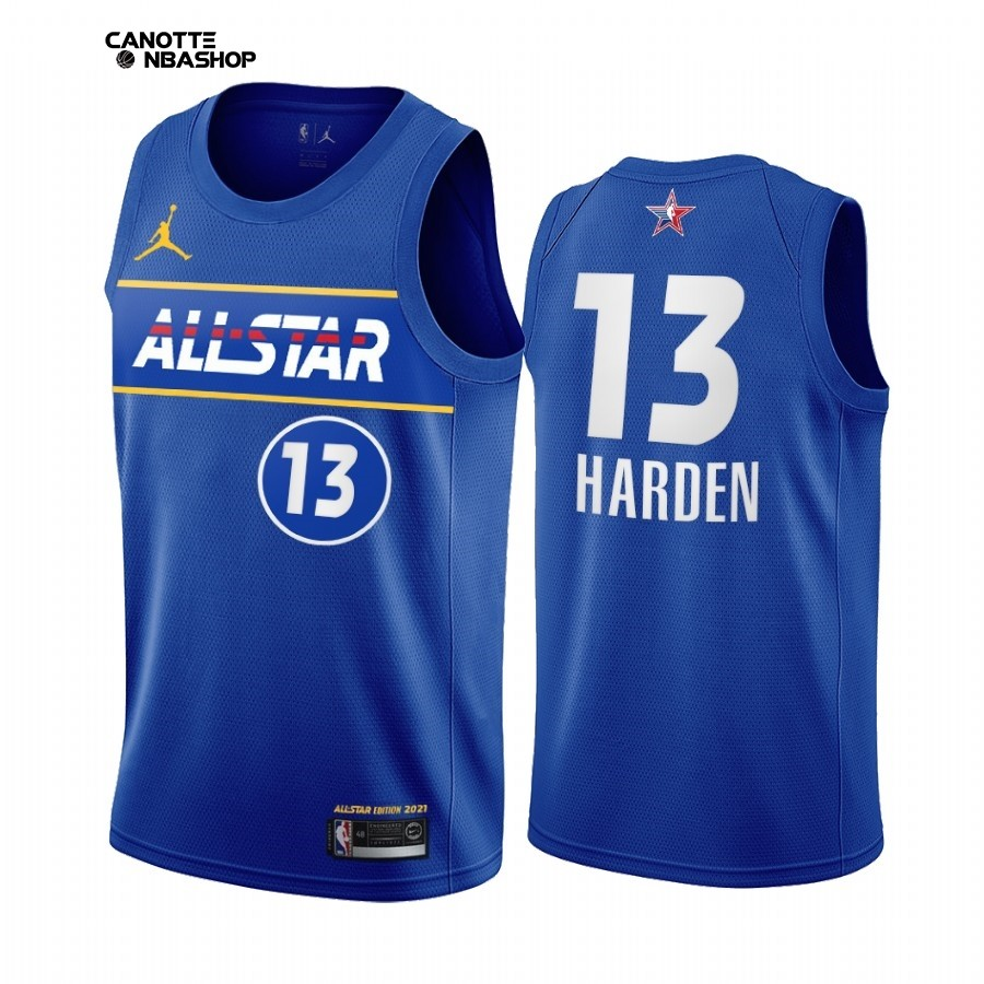 Vendite Maglia NBA 2021 All Star NO.13 James Harden Blu