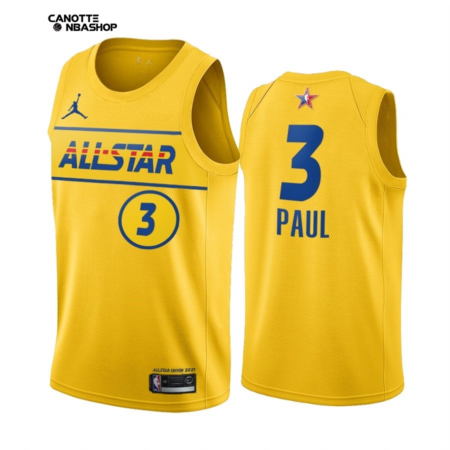 Vendite Maglia NBA 2021 All Star NO.3 Chris Paul Oro