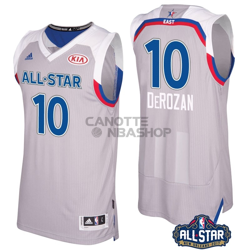 Vendite Maglia NBA 2017 All Star NO.10 Demar Derozan Gray