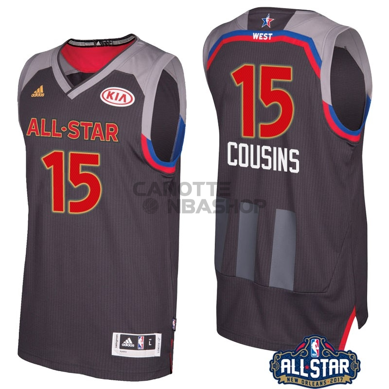 Vendite Maglia NBA 2017 All Star NO.15 Demarcus Cousins Carbone
