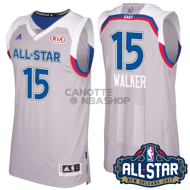 Vendite Maglia NBA 2017 All Star NO.15 kemba Walker Gray