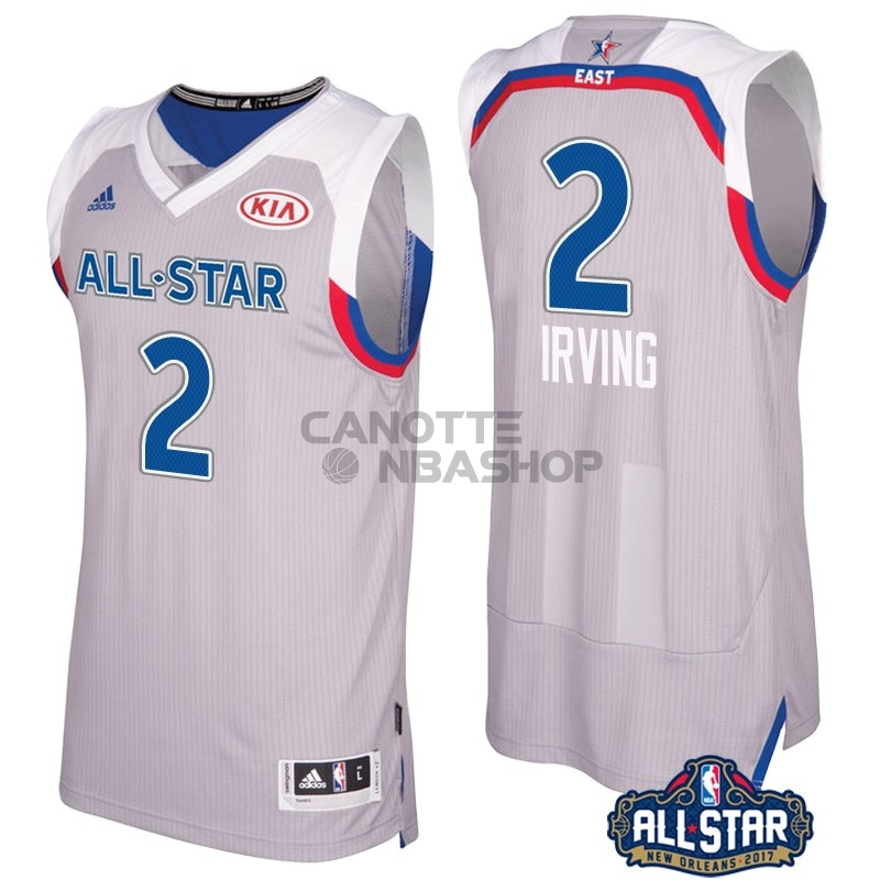 Vendite Maglia NBA 2017 All Star NO.2 kyrie Irving Gray