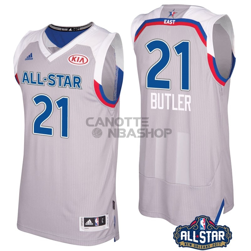 Vendite Maglia NBA 2017 All Star NO.21 Jimmy Butler Gray