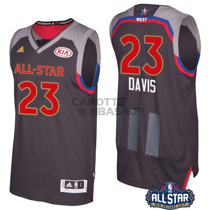 Vendite Maglia NBA 2017 All Star NO.23 Anthony Davis Carbone