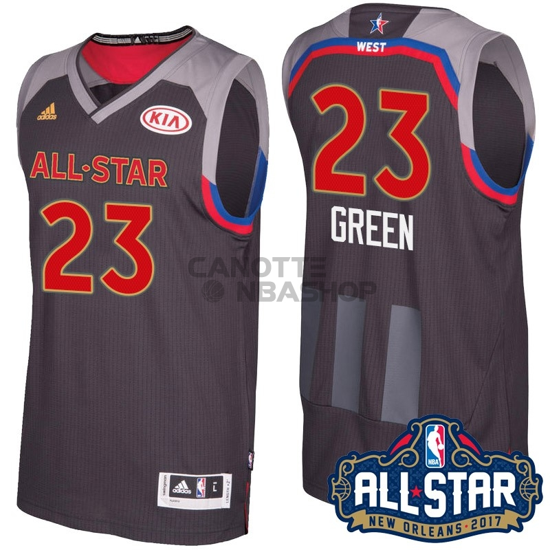 Vendite Maglia NBA 2017 All Star NO.23 Draymond Green Carbone