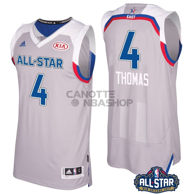 Vendite Maglia NBA 2017 All Star NO.4 Isaiah Thomas Gray