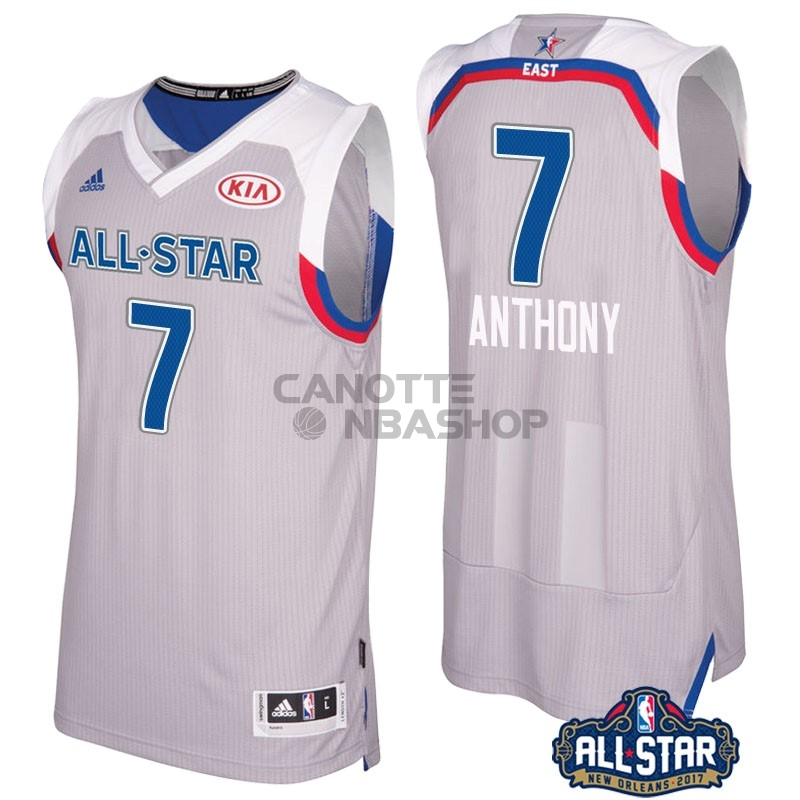 Vendite Maglia NBA 2017 All Star NO.7 Carmelo Anthony Gray