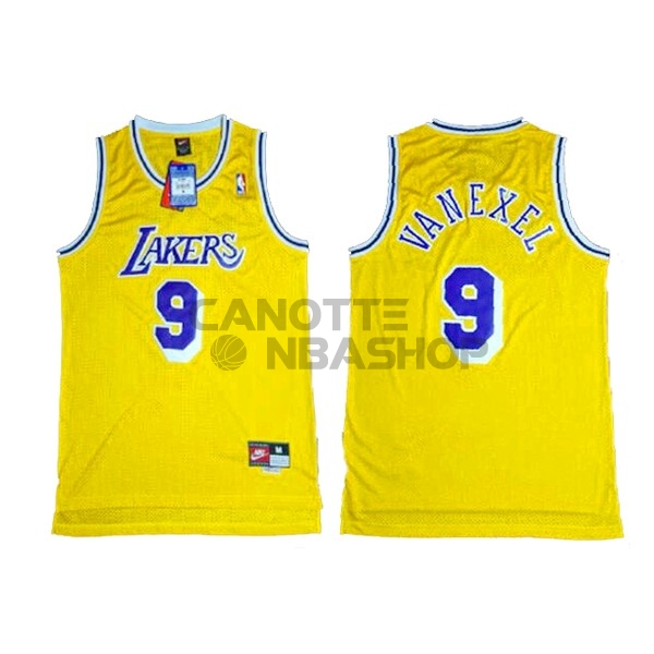 Vendite Maglia NBA Los Angeles Lakers NO.9 Nick Van Exel Giallo