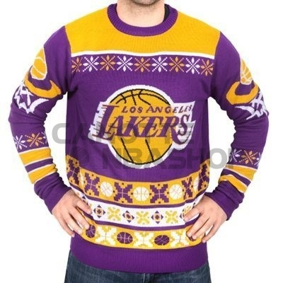 Vendite Maglione Ugly Unisex Los Angeles Lakers Giallo