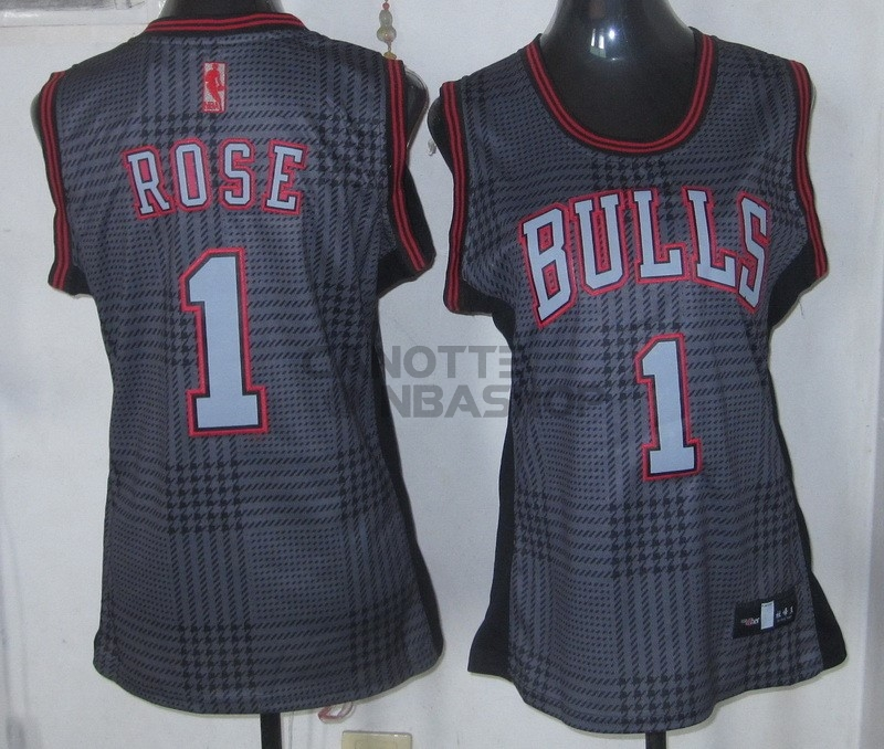 Vendite Maglia NBA Donna 2013 Fashion Statico NO.1 Derrick Rose