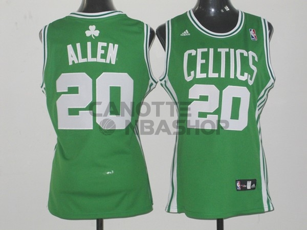 Vendite Maglia NBA Donna Boston Celtics NO.20 Ray Allen Verde