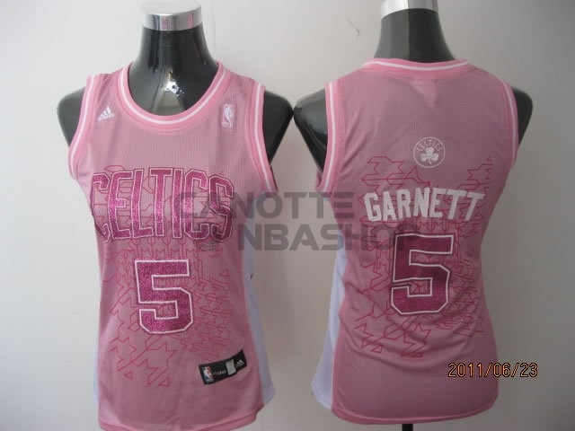 Vendite Maglia NBA Donna Boston Celtics NO.5 Kevin Garnett Rose