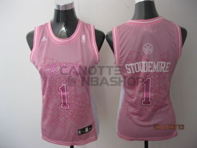 Vendite Maglia NBA Donna New York Knicks NO.1 Amar'e Stoudemire Rose