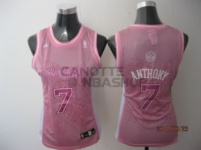 Vendite Maglia NBA Donna New York Knicks NO.7 Carmelo Anthony Rose