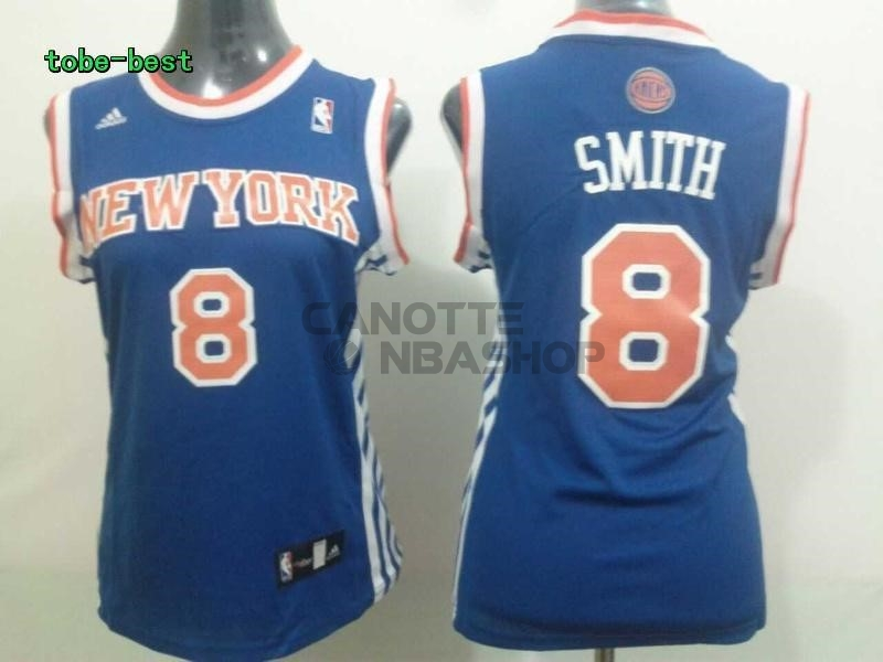 Vendite Maglia NBA Donna New York Knicks NO.8 JR.Smith Blu