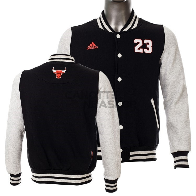 Vendite Giacca Di Lana NBA Chicago Bulls NO.23 Michael Jordan Nero