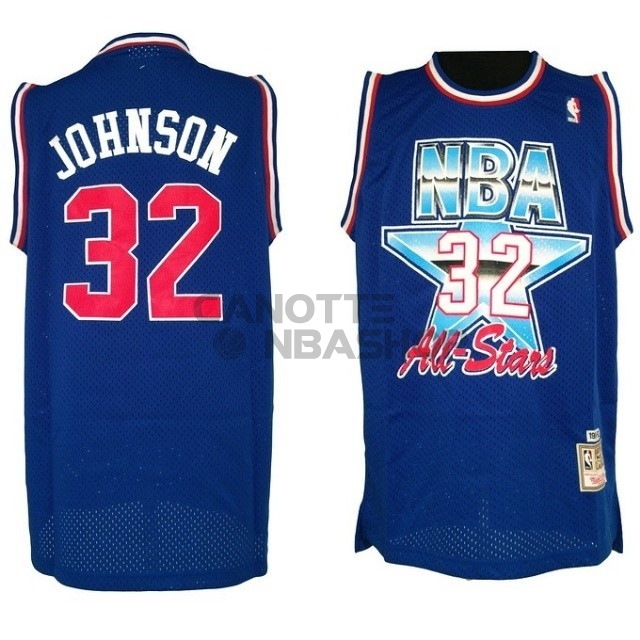 Vendite Maglia NBA 1992 All Star NO.32 Joe Johnson Blu