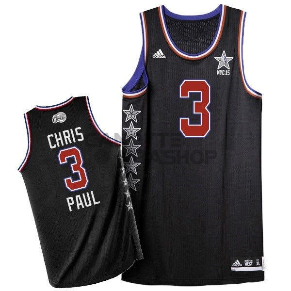 Vendite Maglia NBA 2015 All Star NO.3 Chris Paul Nero