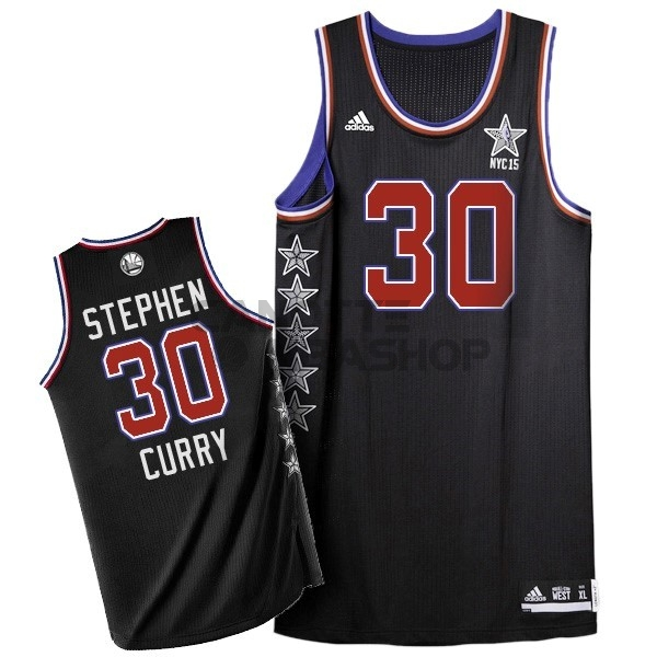 Vendite Maglia NBA 2015 All Star NO.30 Stephen Curry Nero
