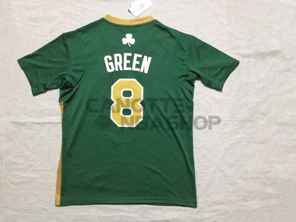 Vendite Maglia NBA Boston Celtics Manica Corta No.8 Jeff Green Verde