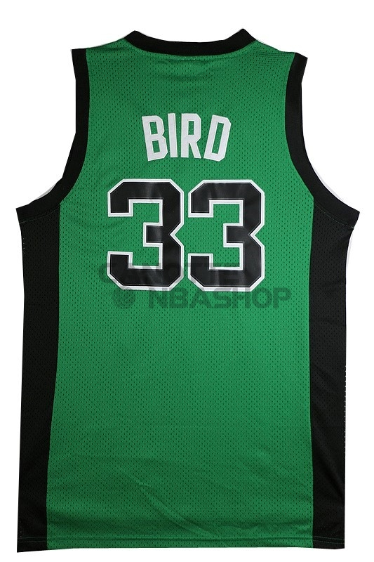 Vendite Maglia NBA Boston Celtics No.33 Larry Joe Bird Verde Nero