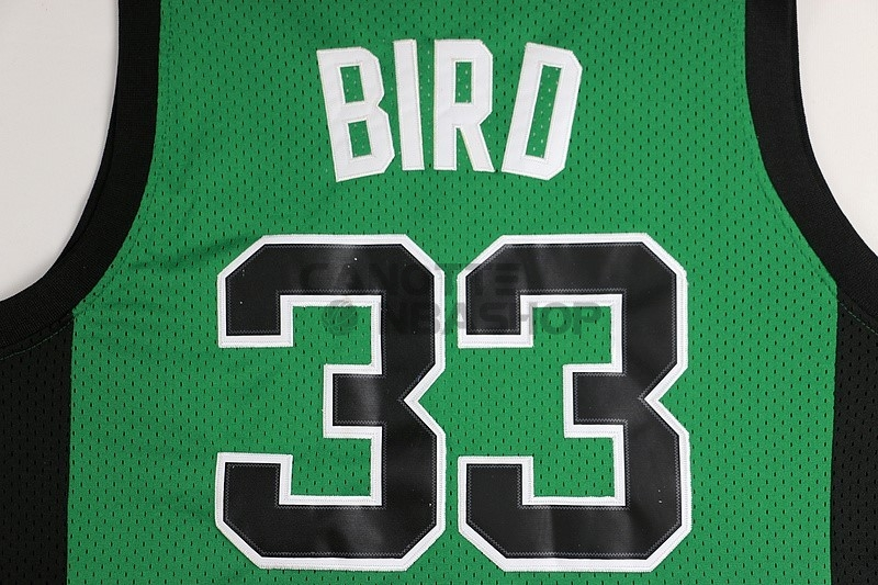 ... Vendite Maglia NBA Boston Celtics No.33 Larry Joe Bird Verde Nero ... 1f7a994ae1ad