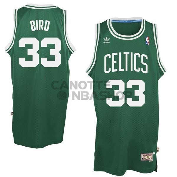 Vendite Maglia NBA Boston Celtics No.33 Larry Joe Bird Verde