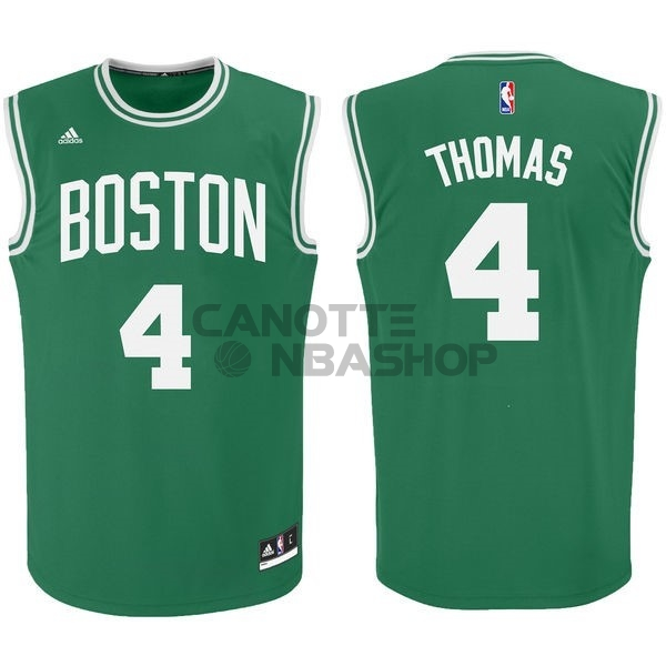 Vendite Maglia NBA Boston Celtics No.4 Isaiah Thomas Verde