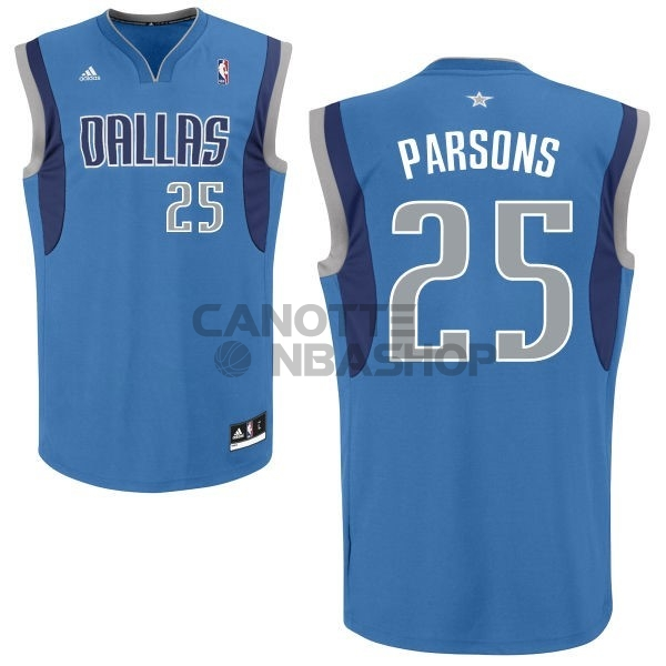 Vendite Maglia NBA Dallas Mavericks NO.25 Chandler Parsons Blu