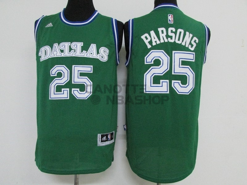 Vendite Maglia NBA Dallas Mavericks NO.25 Chandler Parsons Verde