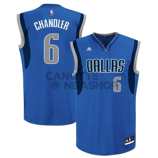 Vendite Maglia NBA Dallas Mavericks NO.6 Tyson Chandler Blu
