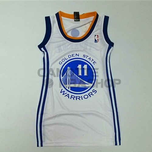 Vendite Maglia NBA Donna Golden State Warriors NO.11 Klay Thompson Bianco