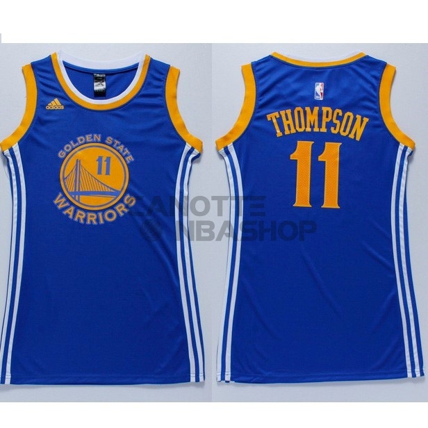 Vendite Maglia NBA Donna Golden State Warriors NO.11 Klay Thompson Blu