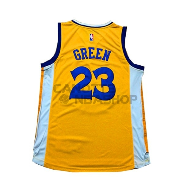 Vendite Maglia NBA Donna Golden State Warriors NO.23 Draymond Green Giallo