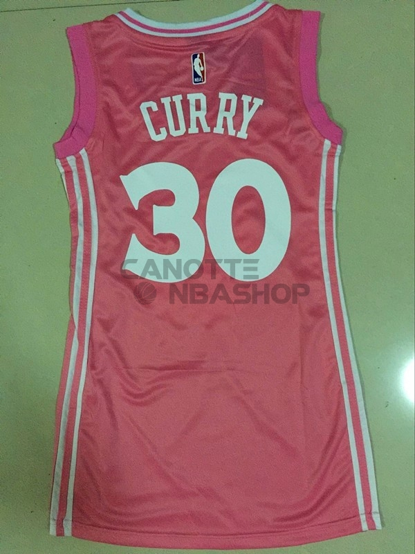 Vendite Maglia NBA Donna Golden State Warriors NO.30 Stephen Curry Rose