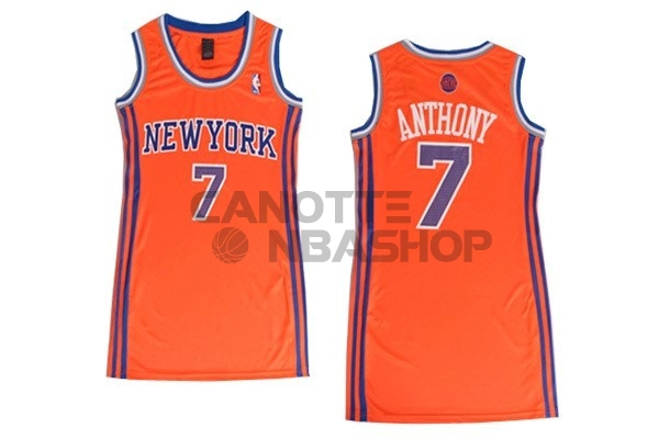 Vendite Maglia NBA Donna New York Knicks NO.7 Carmelo Anthony Arancia