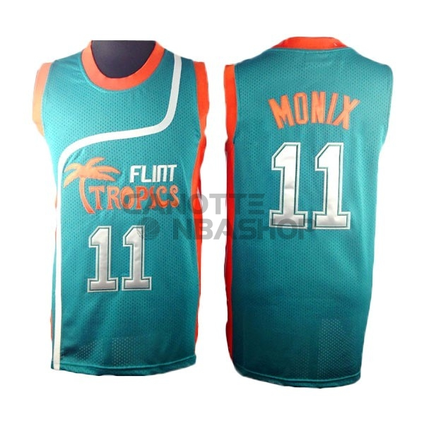 Vendite Maglia NBA Film Basket Flint Hill NO.11 Monix Blu