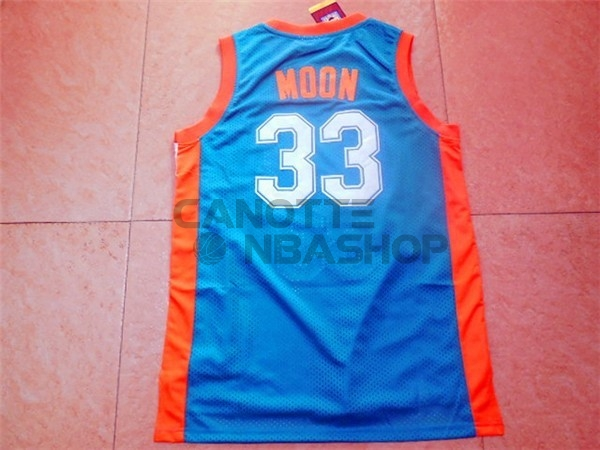 Vendite Maglia NBA Film Basket Flint Hill NO.33 Moon Blu