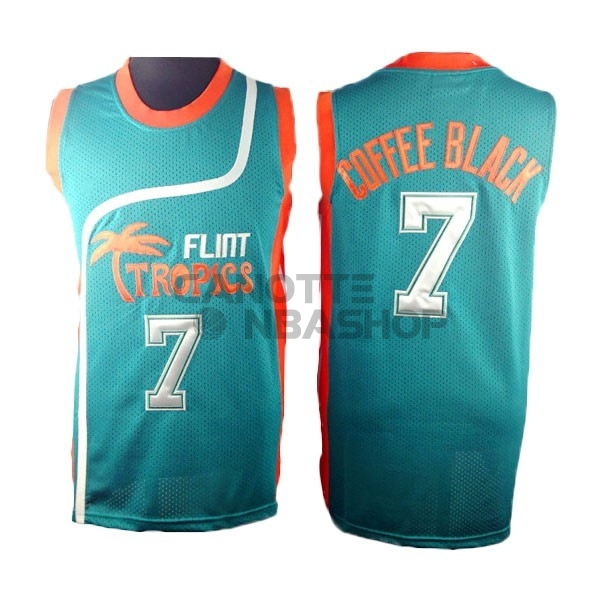 Vendite Maglia NBA Film Basket Flint Hill NO.7 Coffee Nero Blu