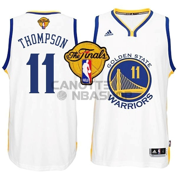 Vendite Maglia NBA Golden State Warriors Finale NO.11 Thompson Bianco
