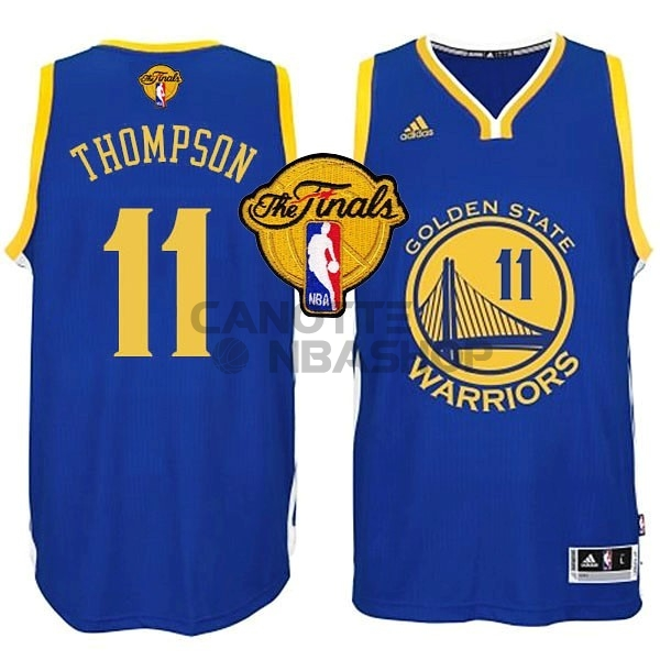 Vendite Maglia NBA Golden State Warriors Finale NO.11 Thompson Blu
