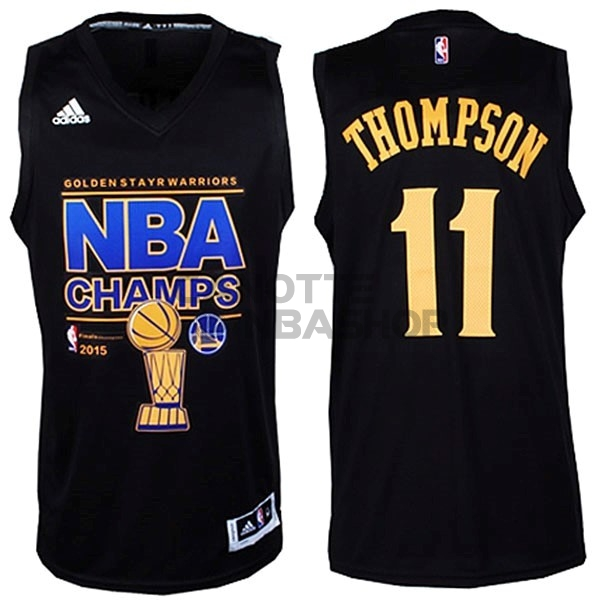 Vendite Maglia NBA Golden State Warriors Finale NO.11 Thompson Nero
