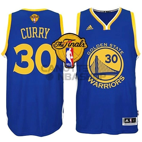 Vendite Maglia NBA Golden State Warriors Finale NO.30 Curry Blu