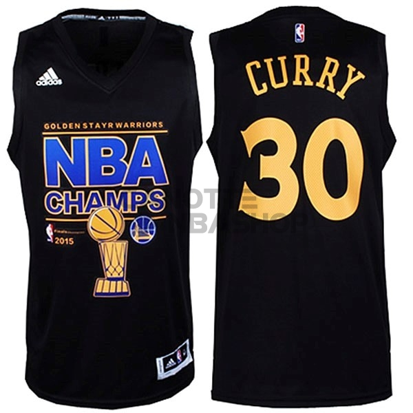 Vendite Maglia NBA Golden State Warriors Finale NO.30 Curry Nero