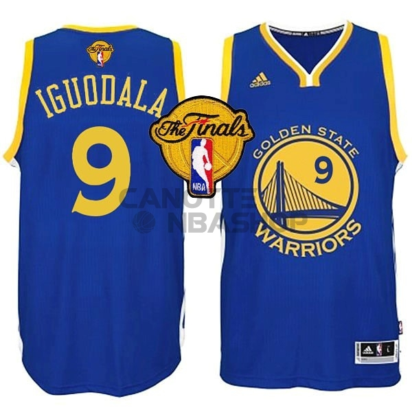 Vendite Maglia NBA Golden State Warriors Finale NO.9 Iguodala Blu