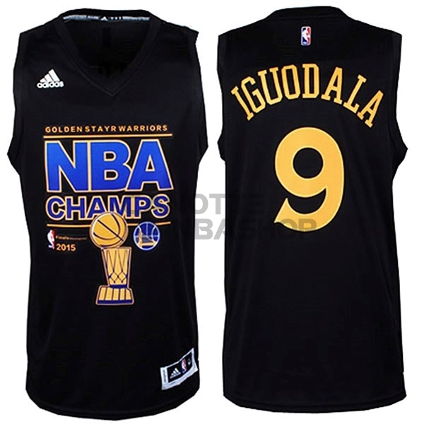 Vendite Maglia NBA Golden State Warriors Finale NO.9 Iguodala Nero
