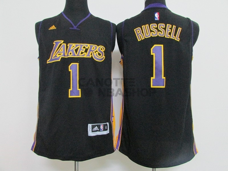 Vendite Maglia NBA Los Angeles Lakers NO.1 D'Angelo Russell Nero