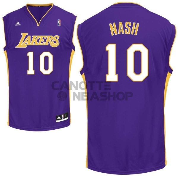Vendite Maglia NBA Los Angeles Lakers NO.10 Steve Nash Porpora