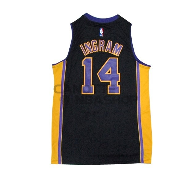 Vendite Maglia NBA Los Angeles Lakers NO.14 Ingram Nero