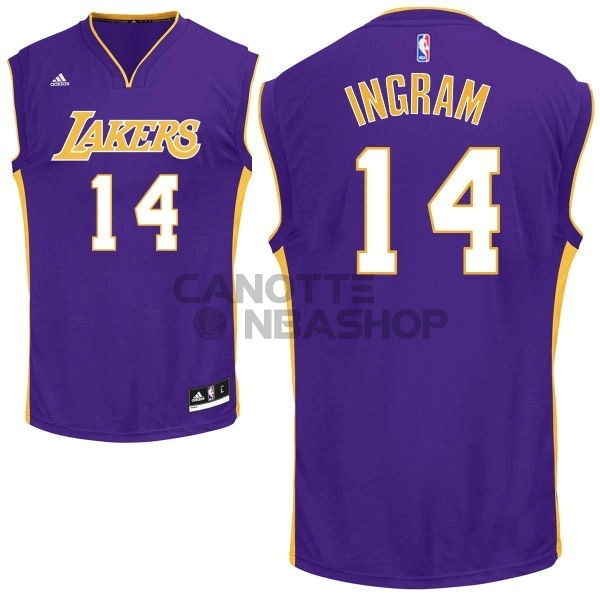 Vendite Maglia NBA Los Angeles Lakers NO.14 Ingram Porpora